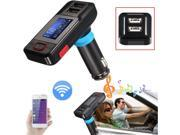 LCD Wireless Car Kit MP3 Player FM Transmitter Modulator Dual USB Charger+Remote