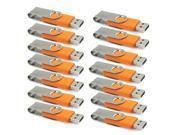 Lot 20PCS New 4GB 4 GB 4G USB 2.0 Flash Memory Drive Thumb Swivel Design Orange