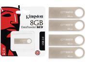 Lot of 4 Kingston 8GB DataTraveler SE9 USB Flash Drive Memory Wholesale Metal