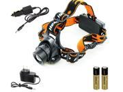 3000LM CREE XML T6 LED Zoomable Headlamp Headlight Lamp Light + 2x 18650 Battery