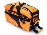 KAZE 3 Ball Bowling Bag Triple Tote Tournament Roller Detachable Shoe Pocket