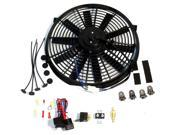 "16"""" Reversible Cooling radiator Fan, Straight Blade 12v 3000cfm W/ Thermostat Kit"" 9SIA8BW6XE1709"