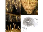 TinkSky LEORX 110V 5M 216 LED Fairy Lights Curtain Icicle Starry String Lights with US-plug for Christmas / New Year / Home Garden / Bedroom / Wedding (Warm whi 9SIA8CG5438404