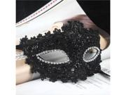 TinkSky Exquisite Venetian Style Lace Crystal Rhinestones Cosplay Mask for Halloween /Masquerade /Costume Party (Black) 9SIA8CG3TT9888
