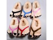 TinkSky Funny Unisex Winter Indoor Big Toes Feet Warm Soft Plush Slippers Free Size Random Color