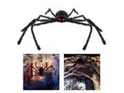 TinkSky Halloween Decoration 49 Inch 125CM Large Size Black Realistic Fake Plush Spider Puppet Prank Jokes Toy Halloween Props Spider For Party or Bar KTV 9SIA8CG6DP6603