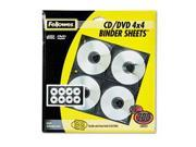 Two-Sided Cd/dvd Refill Sheets For Three-Ring Binder, 25/pack By: Fellowes