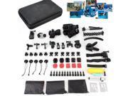 Accessories kit 56in1 Head Chest Mount Floating Monopod Bundle For Gopro Hero 4 3+ 2 1 SjCAM SJ4000 SJ4000+ SJ5000 SJ5000WIFI