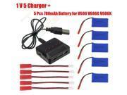 5in1 Balance Charger 5x 780mAh Battery Kit For JJRC V686 V686K V686G Quadcopter Drone
