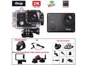 GitUp GT2 GIt2 2K 30fps Novatek 96660 1080P WiFi Action Outdoor Sports Helmet Action Camera+Extra Microphone+Wrist Remote Control+8in1 Accessories+Standard fram 9SIA8DE3WS0108