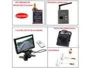 TS5828S FPV 40CH 5.8Ghz 600mw Wireless AV TX Transmitter+RC832 Receiver+7 inch HD LCD TFT Screen Monitor+700TVL Mini CMOS Camera+5.8G Mushroom Antennas Transmitter and Receiver