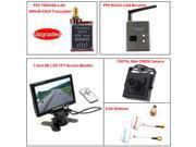 TS5828S FPV 40CH 5.8Ghz 600mw Wireless AV TX Transmitter RC832 Receiver 7 inch HD LCD TFT Screen Monitor 700TVL Mini CMOS Camera 5.8G Mushroom Antennas Transmit