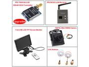 TS5823S FPV 40CH 5.8Ghz 200mw Wireless AV TX Transmitter+RC832 Receiver+7 inch HD LCD TFT Screen Monitor+700TVL Mini CMOS Camera+5.8G Mushroom Antennas Transmitter and Receiver