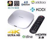 ZIDOO X5 Android 5.1 Lollipop KODI S905 Quad Core 64bit 4K OTT TV Box HDMI 2.0 KODI WiFi XBMC