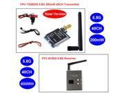 TS5823S FPV 40CH 5.8Ghz 200mw Wireless AV TX Transmitter + RC832 FPV 5.8Ghz 40CH 600mW A/V Wireless Receiver