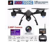 JXD 509G FPV 2.4G 4CH 6 Axis RTW/2.0MP Camera 5.8G HD Monitor  360 Degree Flips One Key Return RC Quadcopter Drone  Helicopter RC AirPlane Toys With Extra 2pcs