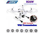 JJRC H26W 2.4G 6 Axis 2MP HD Camera Wifi Monitor FPV Headless RC Quadcopter Drone Helicopter Airplane Toys ( White )