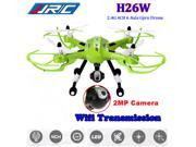 JJRC H26W 2.4G 6 Axis 2MP HD Camera Wifi Monitor FPV Headless RC Quadcopter Drone Helicopter Airplane Toys ( Green )