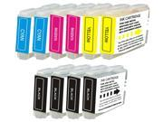 Houseoftoners Compatible Ink Cartridges for Brother LC51: 10PK (4 Black, 2 Cyan, 2 Magenta, 2 Yellow)