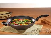 """Swiss Diamond Induction Nonstick Wok with Lid - 11"""""""
