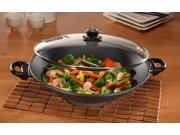 Swiss Diamond Nonstick Wok with Lid - 14""