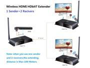 (1 Sender+2 Recivers) 100m long range Wireless HDMI HDbitT Transmitter & Reciver Kit,Full HD 1080p transmission,full compliant with HDMI and HDCP,Support IR remote control