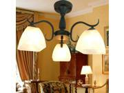 Simple Iron Study Room Ceiling Lamp Classic 3 Lights Glass Bedroom Ceiling Fixtures Restaurant Ceiling Light 9SIA8F133B3362