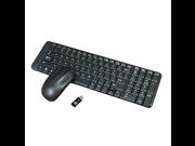 Logitech MK220 2.4GHz RF Wireless Optical Sensor 1000dpi Mouse and Keyboard Combo-Black