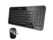 Logitech MK365 Keyboard and Mouse Combo 2.4GHz 1000DPI Unifying Receiver USB RF Wireless Ergonomical -Black,Black/Red,Black/Silver
