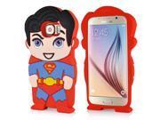3D Cute Cartoon Super Man Design Silicone Soft Case Cover For Samsung Galaxy S6 G920 9SIA8JG3DR8141
