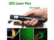 LED 303 Laser Pointers Green Beam Laser Pointer  Star Pattern Filter pen Adjustable Focal Length Safe Key Laser+4200mah 18650 Battery+Charger