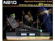ping UHF N910 Handheld Mic Professional 2 x Wireless Microphone And 2 x Headset Microphone System KTV DJ Karaoke Computer Meeting