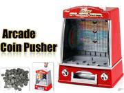 Novelty Mini Arcade Fairground Coin Pusher  Game Replica Penny Pusher Family Children 9SIA8K734H1822