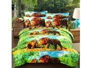 3D Active Printing Winter Queen King Size Bed Quilt Duvet Sheet Cover 4PC Set Upscale Cotton 9SIA8K73C47578