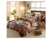 Cotton Active floral printing Quilt Duvet Sheet Cover Sets 4PC Set 9SIA8K73C48615