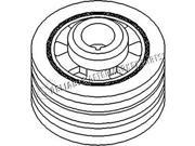 74009853 New Crankshaft Pulley Made To Fit Allis Chalmers Tractor 200 9SIA8MC3VT8781