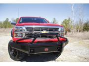 Bumper-Black Steel Ranch Front Fab Fours fits 07-13 Chevrolet Silverado 1500