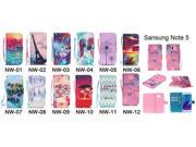 Moonmini Case for Samsung Galaxy Note 5 PU Leather Flip Stand Case Cover Wallet with Card Holders and Lanyard (Cartoon Figures) 9SIA8MN3FG9999