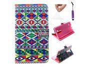 Moonmini Case for LG G3 PU Leather Case Flip Cover with Stand Function and Magnetic Closure (Rhombi) 9SIA8MN3FH0402