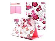 Moonmini Cover for Apple iPad Pro 12.9 inch Flower Pattern PU Leather Flip Case Cover Skin Protector with Stand Function and Magnetic Closure Style 2
