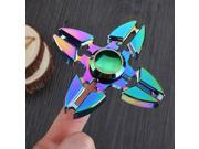 Rainbow EDC Fidget Hand Spinner Alloy Finger Focus ADHD Autism Kids Toy Gyro