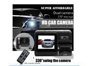 170° Car Dash Cam Recorder HD  Portable Car DVR 1080P Dual Camera Cam Recorder Motion Detection LED Night Vision G-sensor Rear Camera 2 Inch TFT LCD Remote Cont