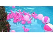 6PCS Flamingo Floating Inflatable Drink Can Holder Swimming Pool Bath Toy 9SIA8MX5CU4694