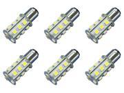 18x 5050 12V-24V LED Light Bulb Fits : BA15S - 1156 Cool white Marine Lighting - 6 Pack 9SIA8MZ32N0791