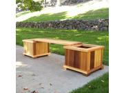 Wood Country Wooden Planter Box and Bench Set