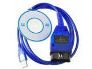 VAG 409.1 OBD2 USB Auto Diagnostics Tools Scanner + VCDS Software for VW Audi skoda seat USB Vag-Com interface cable J1962 16-Pin Male