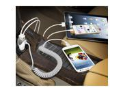 Naztech N420 Trio 4.8A MFi Lightning Vehicle Charger White