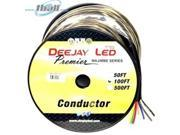 DEEJAY LED 100-Foot 8-Conductor 12 Gauge Stranded Cable W/single Black Jacket Ideal For Speakers And Power 9SIA8NP5BC6795