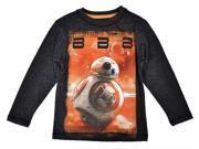 Star Wars Force Awakens Boys T-Shirt Gray Long Sleeve BB-8 Droids Disney Print