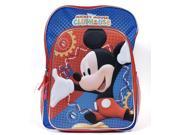 "Disney Mickey Mouse 16"" 3D Backpack Clubhouse Print Kids School Book Bag"